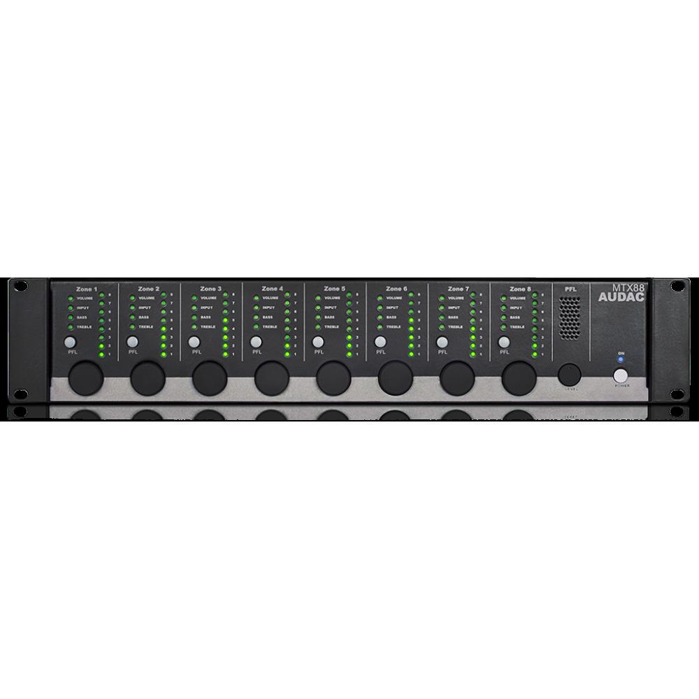 matriz de audio con control remoto MTX88