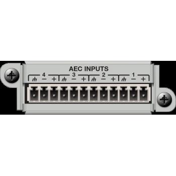 Matriz de audio digital 4 Channel AEC Input Card