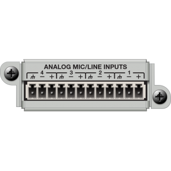 Matriz de audio digital 4 Channel Analog Input Card