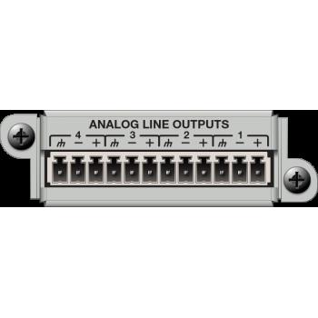 Matriz de audio digital 4 Channel Analog Output Card