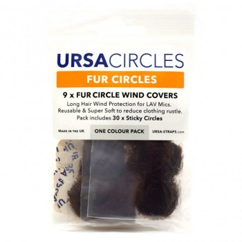 accesorios microfono lavalier microfono U-FC-9-BRN Fur Circles BROWN (Pack of 9)