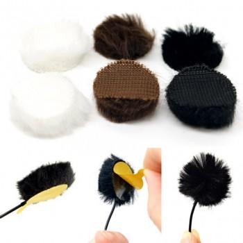 accesorios microfono lavalier microfono U-FC-9-WHT Fur Circles WHITE (Pack of 9)