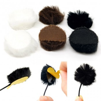 accesorios microfono lavalier microfono U-FC-MP Fur Circles MIXED COLOURS (Pack of 9)