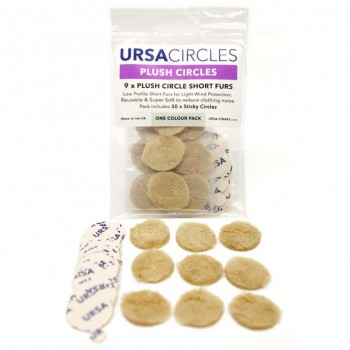 accesorios microfono lavalier microfono U-PC-9-BE Plush Circles BEIG (Pack of 9)