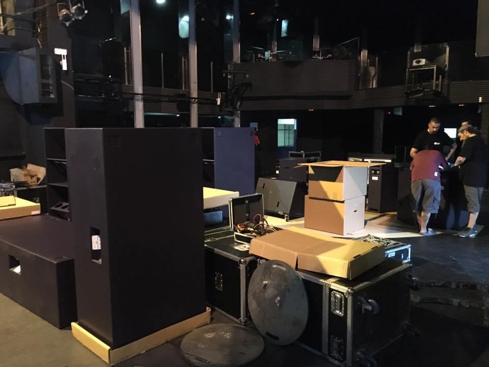 equipos de sonido en directo